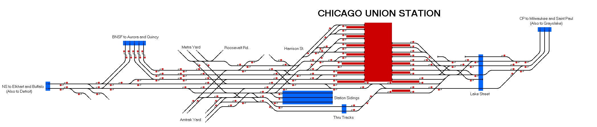 Railway Operation Simulator Chicago Union Station - Chicago map union station